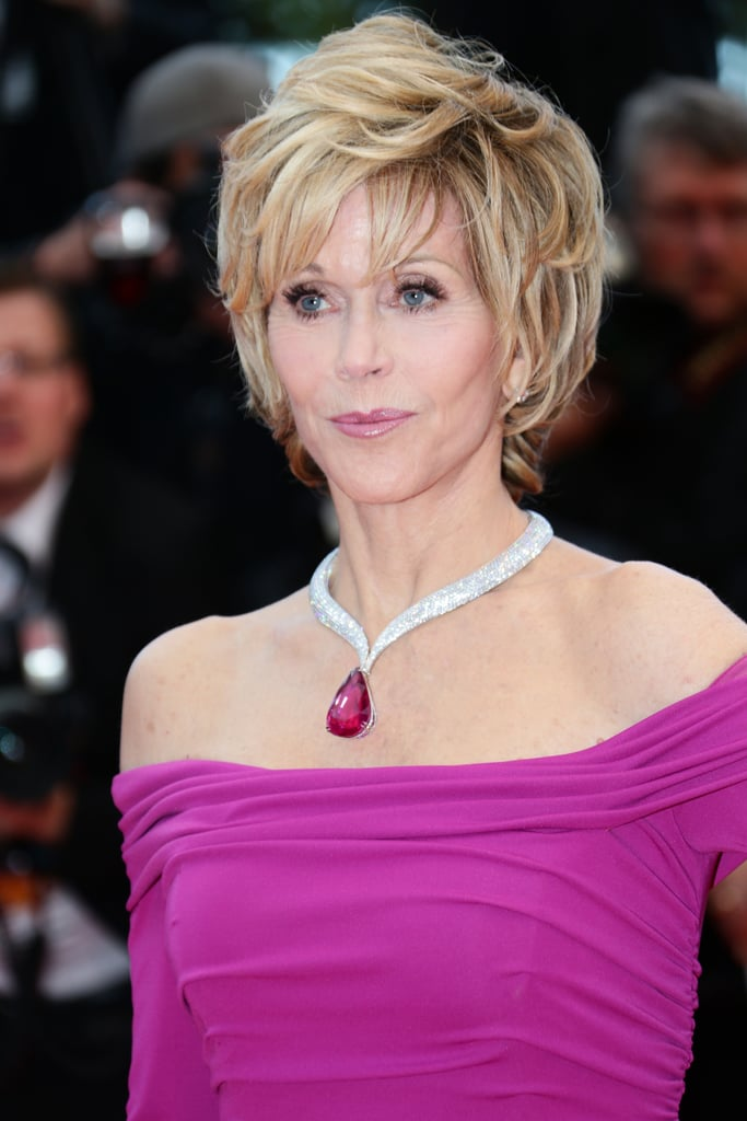 Jane Fonda sizzled with a textured hairstyle and loads of mascara at the premiere of Inside Llewyn Davis.