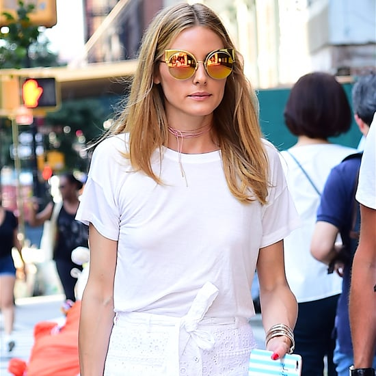 Olivia Palermo White Slit Skirt July 2016
