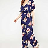 Miss Selfridge Navy Floral Frill Jumpsuit (£45)