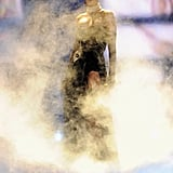 Rihanna wore sunglasses as part of her performance at the Victoria's Secret Fashion Show.
