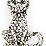 Cara Crystal Cat Pin ($18)