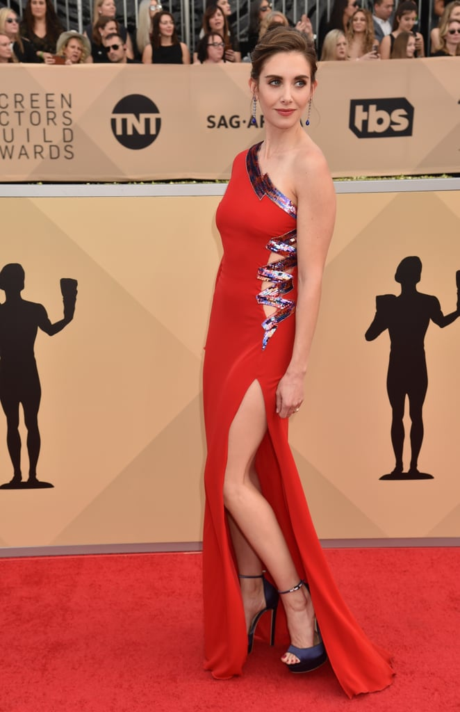 Alison Brie's Dress Is Sexy, but You Won't See Why Until She Turns