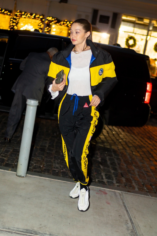 Gigi Hadid Wearing a Polo Ralph Lauren