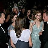 Celebrities at BAFTA Brits to Watch dinner.
