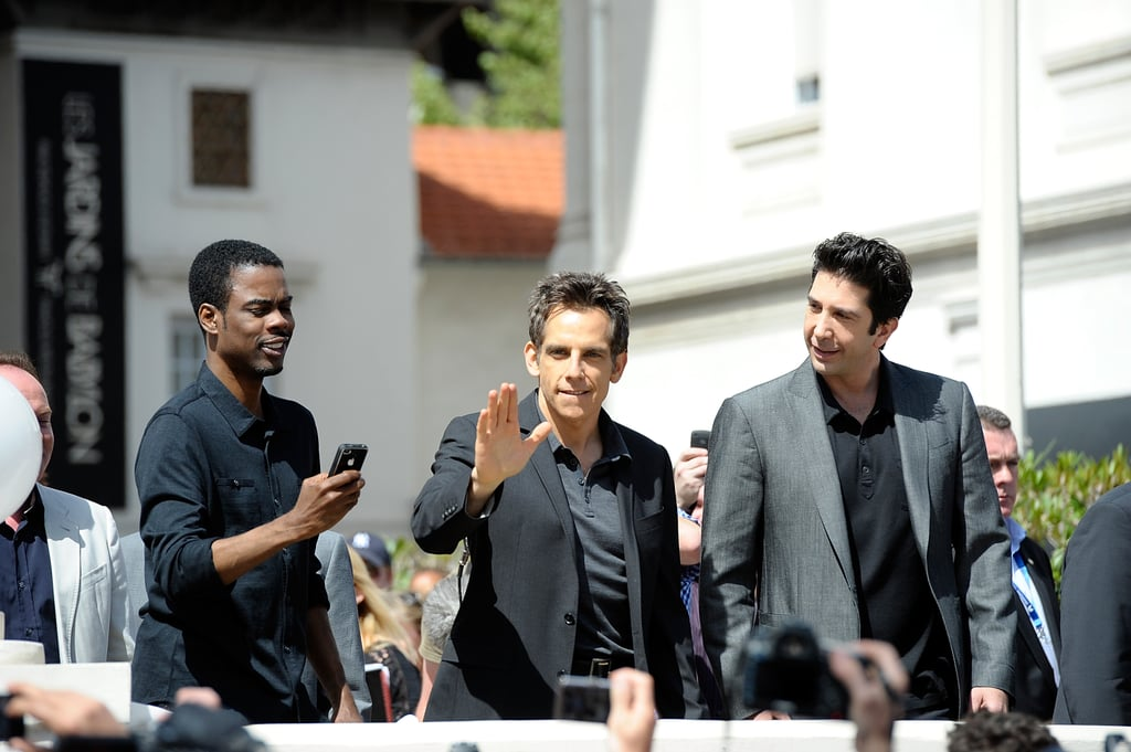 Chris Rock, Ben Stiller, and David Schwimmer got together for a photocall for Madagascar 3 at the Cannes Film Festival.