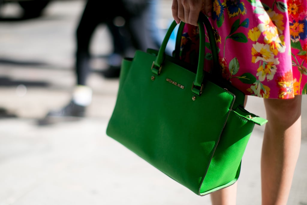 We're green with envy over this Michael Kors tote.