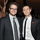 Seth Rogen and Joseph Gordon-Levitt wore matching grins at the 50/50 premiere party in NYC.