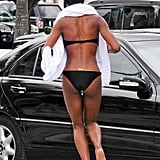 Naomi Campbell wore a black bikini in Miami.