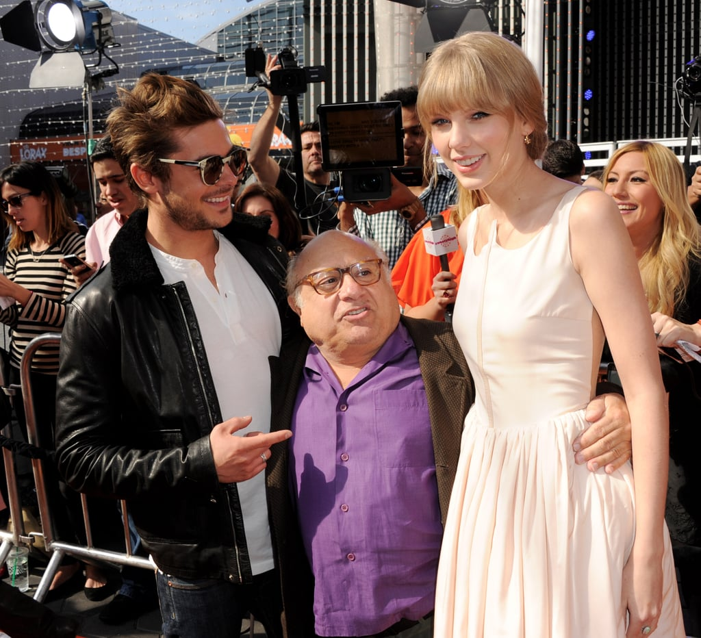 Zac Efron, Danny DeVito, and Taylor Swift spent time posing for photos.