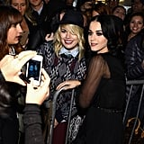 Katy Perry posed for photos with fans at the NYC benefit.