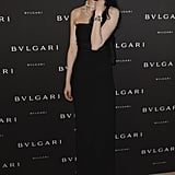 Lv Yan at the unveiling of the Bulgari Diva fine jewelry collection in Paris.  Photo courtesy of Bulgari