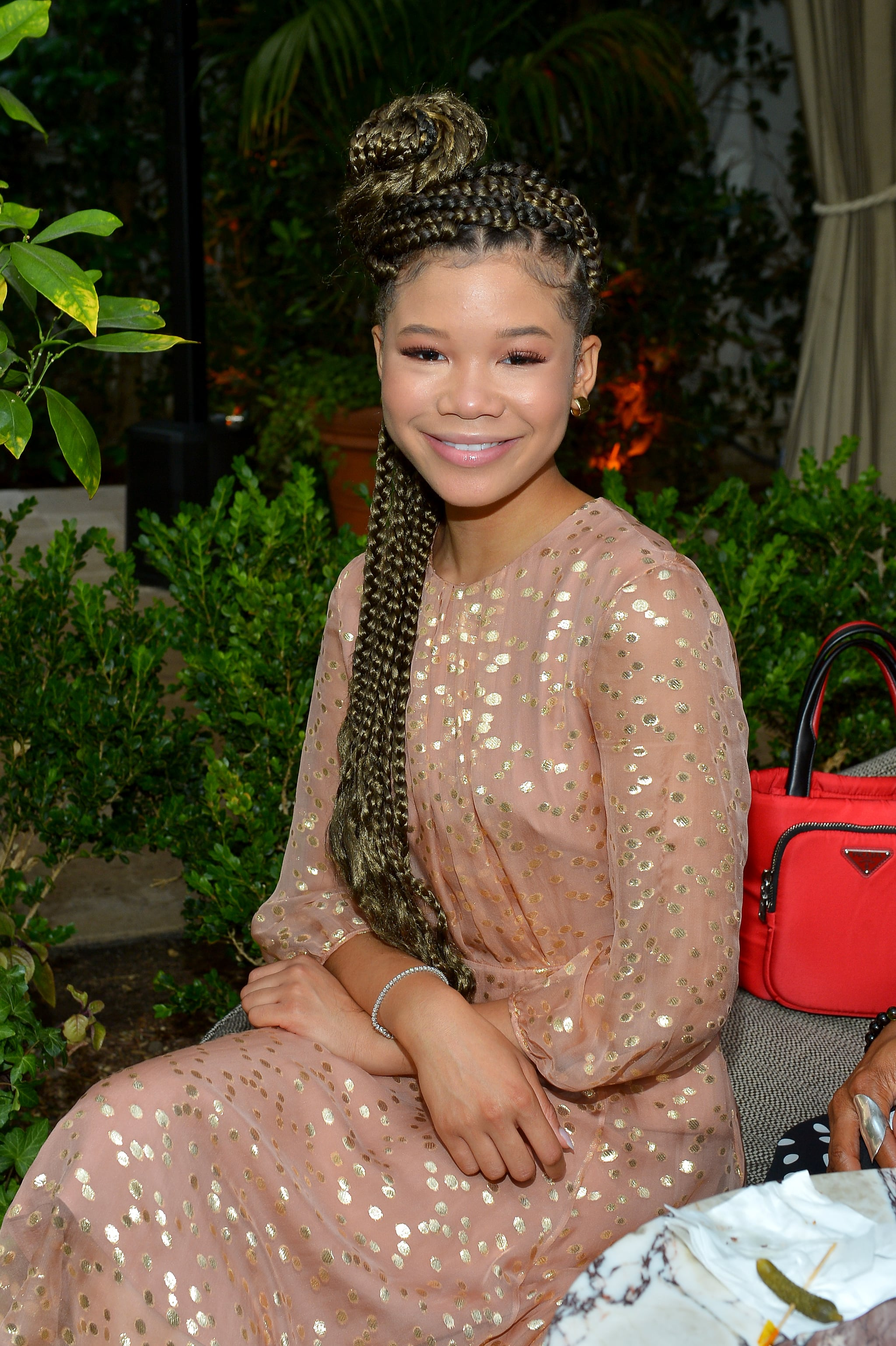 LOS ANGELES, CALIFORNIA - JUNE 11: Storm Reid, wearing Max Mara, attends the 2019 Women In Film Max Mara Face Of The Future, celebrating Elizabeth Debicki, at Chateau Marmont on June 11, 2019 in Los Angeles, California. (Photo by Donato Sardella/Getty Images for Max Mara)