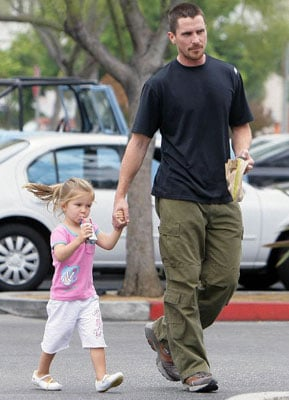 Dark Knight Christian Bale and Emmaline Take in a Day of Leisure