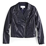 POPSUGAR Collection at Kohl's Crop Faux-Leather Moto Jacket