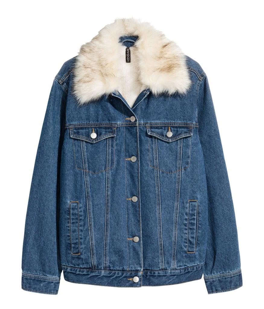 H Amp M Pile Lined Denim Jacket Cheap Jackets Popsugar