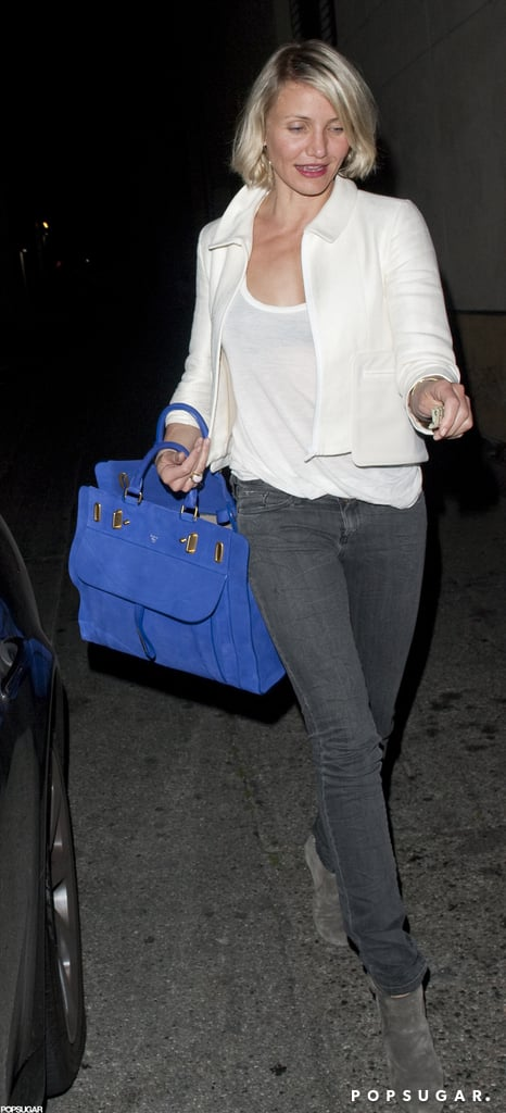 Cameron Diaz did dinner in LA.