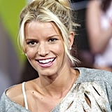 Jessica Simpson appeared on MTV's TRL in 2003.