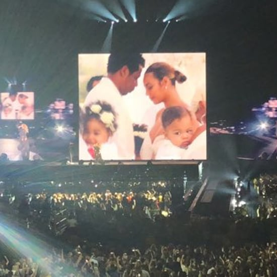 Beyoncé and Her Twins at On the Run II Tour