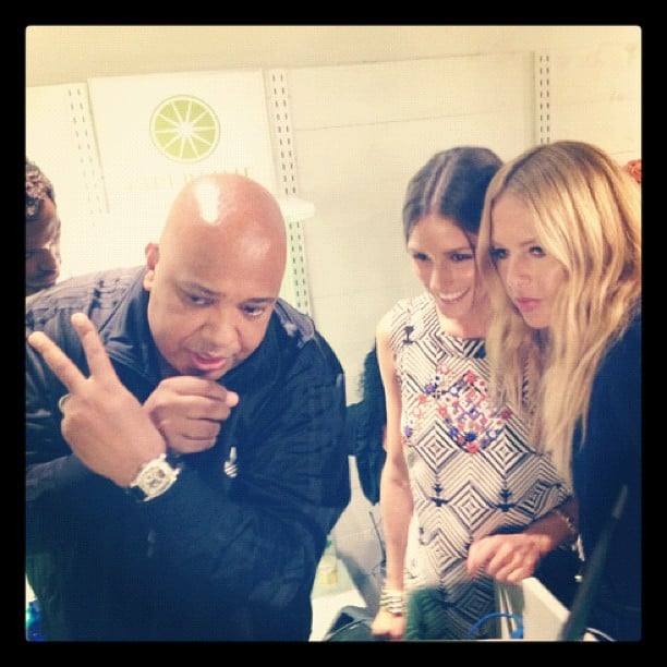 Rachel Zoe joined the party with Rev Run and Olivia Palermo at Piperlime's pop-up shop in NYC.  Source: Instagram user rachelzoe