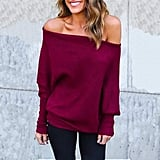 Voianlimo Off Shoulder Knit Sweater
