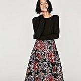 Zara Jacquard Mid-Length Skirt