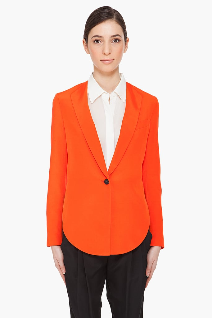 Phillip Lim Orange Silk Blazer ($625)