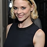 Jaime King attended the Marni for H&M collection launch wearing a black band with big jewels worn right on the hairline.