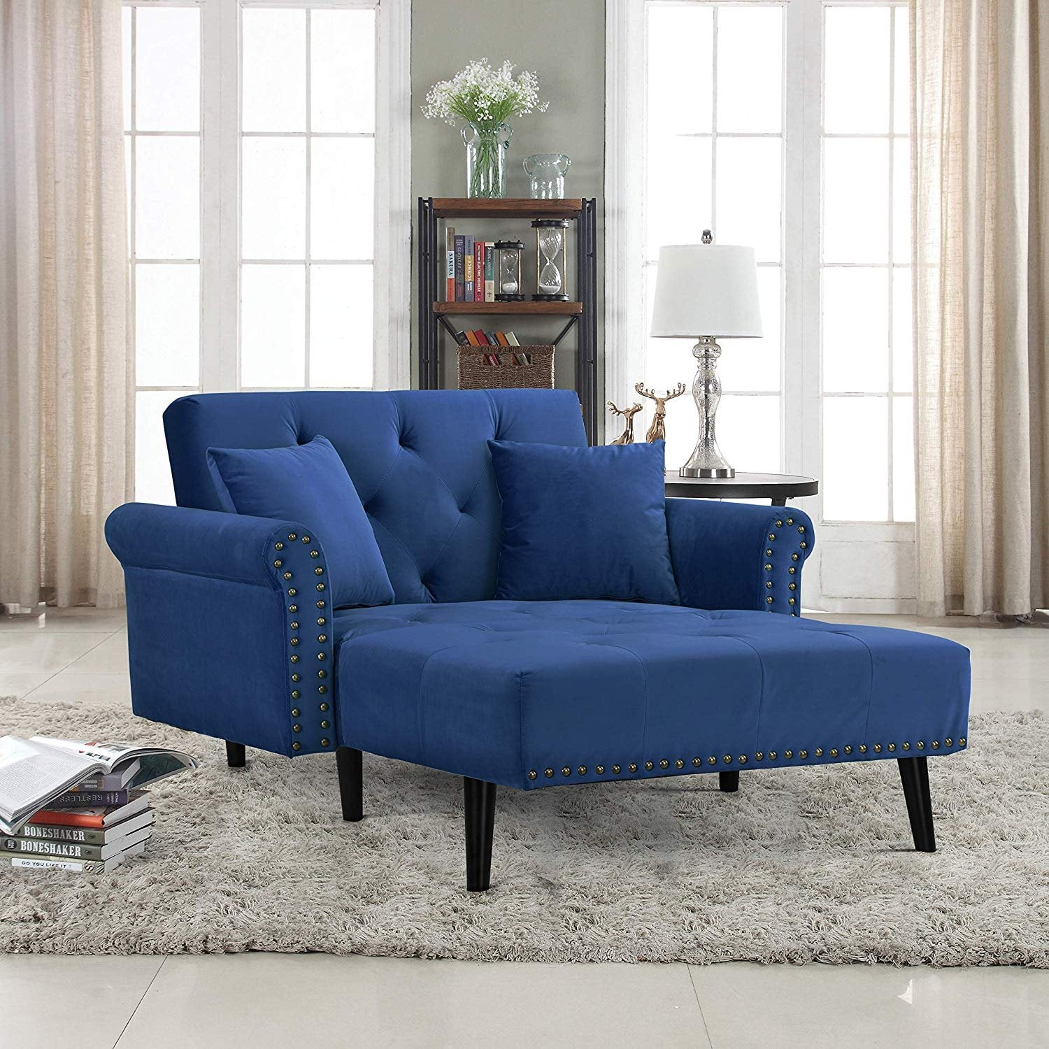 Modern Velvet Fabric Recliner Sleeper Chaise Lounge Small Apartment These 65 Space Saving Furniture Pieces Will Make Life Much Easier Popsugar Home Photo 9