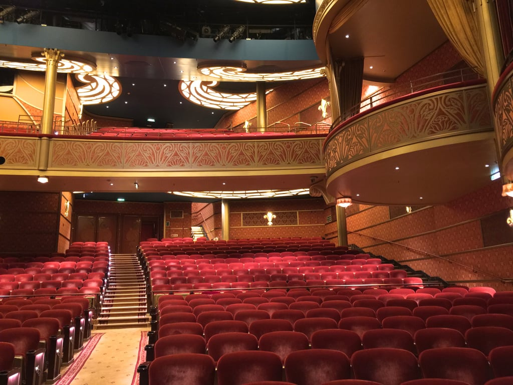 1. Disney is the only cruise line to feature films the same day they premiere on land. This includes movies in 3D!  2. The Walt Disney Theater spans three whole decks. On the Disney Fantasy and Dream, the gorgeous theater can seat 1,340 guests, and the theater on Disney Magic can seat 977.