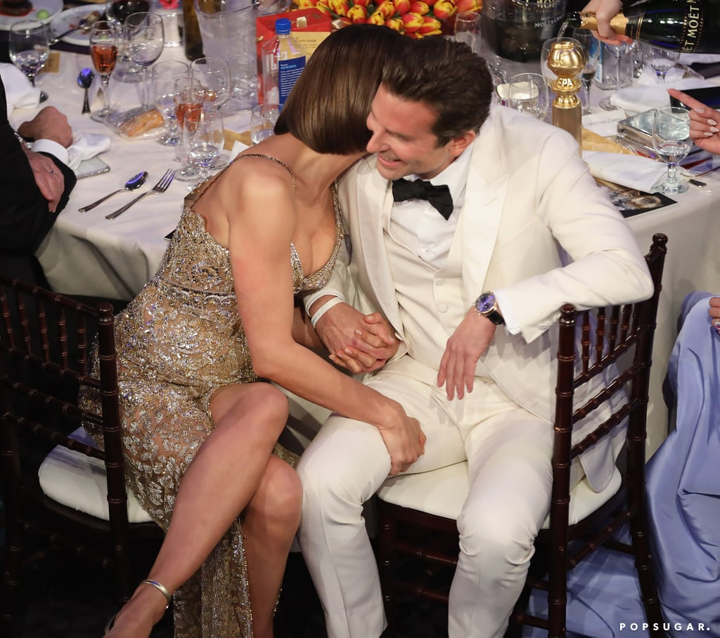 Pictured: Irina Shayk and Bradley Cooper
