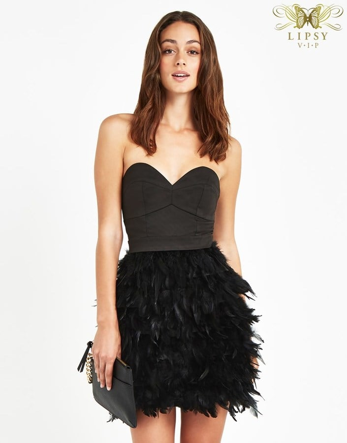 Lipsy Vip Feather Prom Dress 163 110 Best Little Black