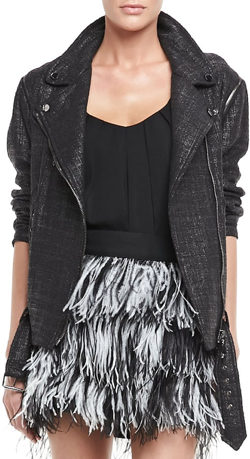 Fashion trend-setters like Oversize Tweed Moto Jacket ($595) just reads cool.  — Annie Gabillet, news editor