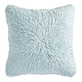 Shaggy Oversized Icy Blue Pillow