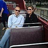 Matt Lauer and Savannah Guthrie toured London on a double decker bus.  Source: Twitter user todayshow
