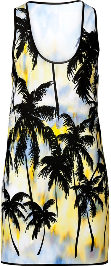 Fausto Puglisi Tie-Dye Palm Tree Tank Dress