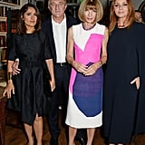Salma Hayek and husband Francois-Henri Pinault joined Anna Wintour at Stella McCartney's Green Carpet Collection event on Sunday.
