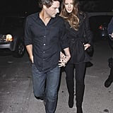 Kate Beckinsale and Len Wiseman took a walk together in LA.