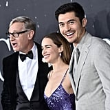Paul Feig, Emilia Clarke, and Henry Golding at the Last Christmas Premiere
