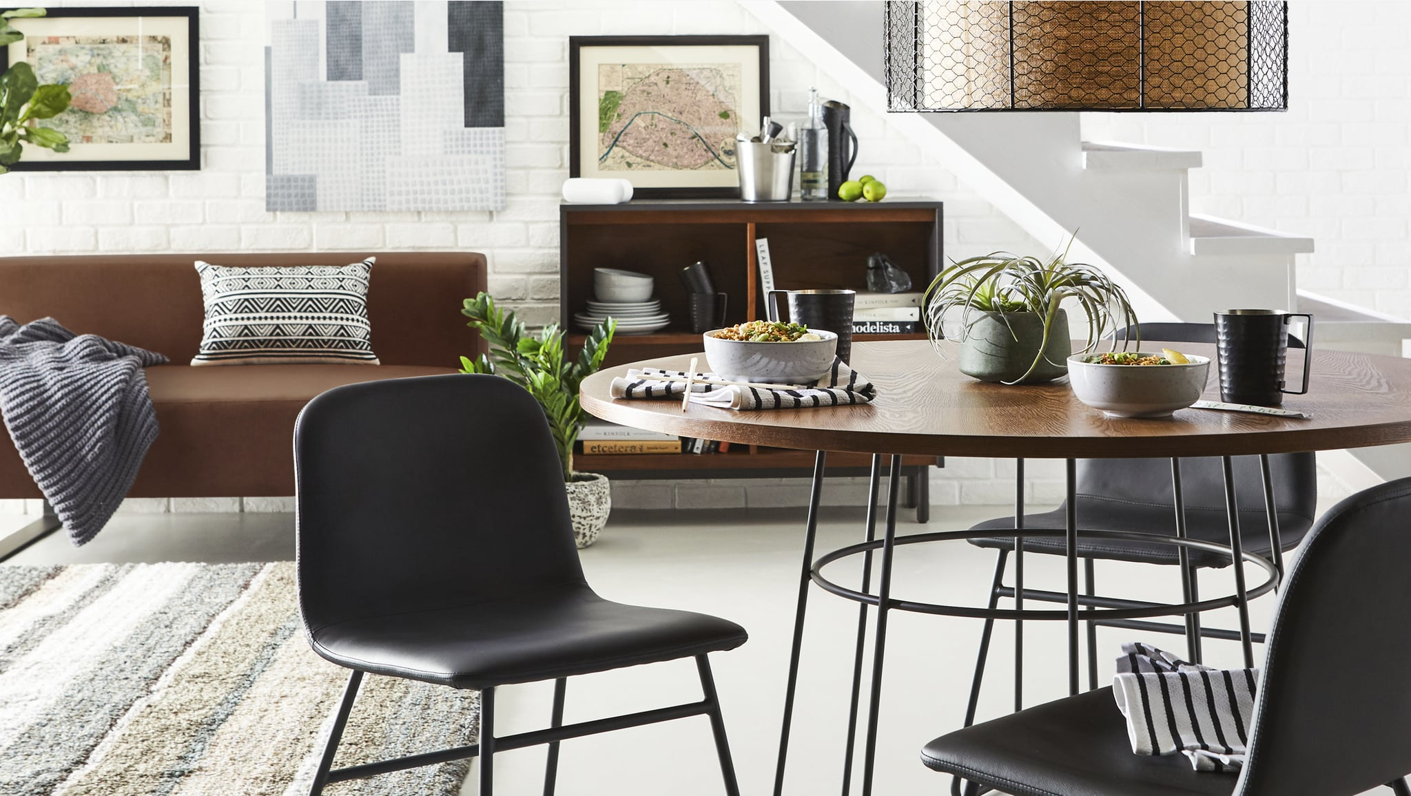 Refined Industrial Dining Room | Walmart Dropped a New ...