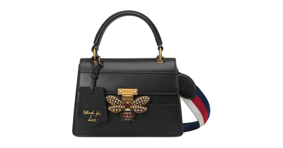 e5a9e034e97 Gucci Queen Margaret Top Handle Leather Satchel