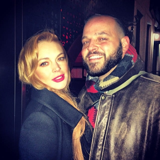 Lindsay Lohan posted this photo with Daniel Franzese six months ago. Source: Instagram user lindsaylohan