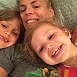 Busy Philipps and her girls, Birdie and Cricket, showed off their toothy grins.