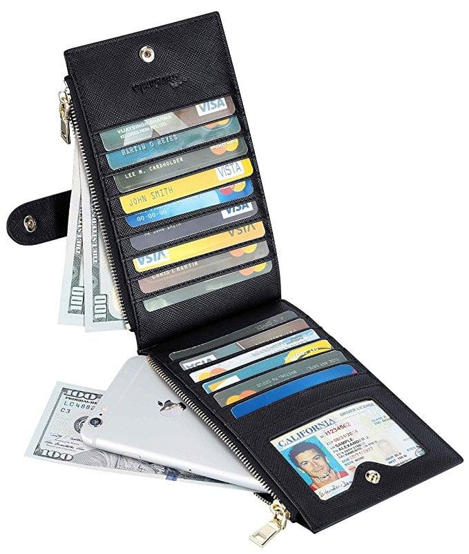 Travelambo Bifold Multi-Card Wallet