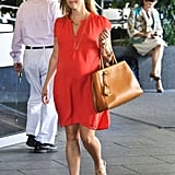 Reese Witherspoon headed towards a food store in LA.