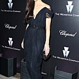 Georgina Chapman wore one of her own Marchesa confections — we love how the shoulder drapes.