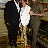 Victoria and David Beckham With Edward Enninful