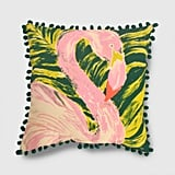 Get the Look: Square Painted Flamingo Pillow