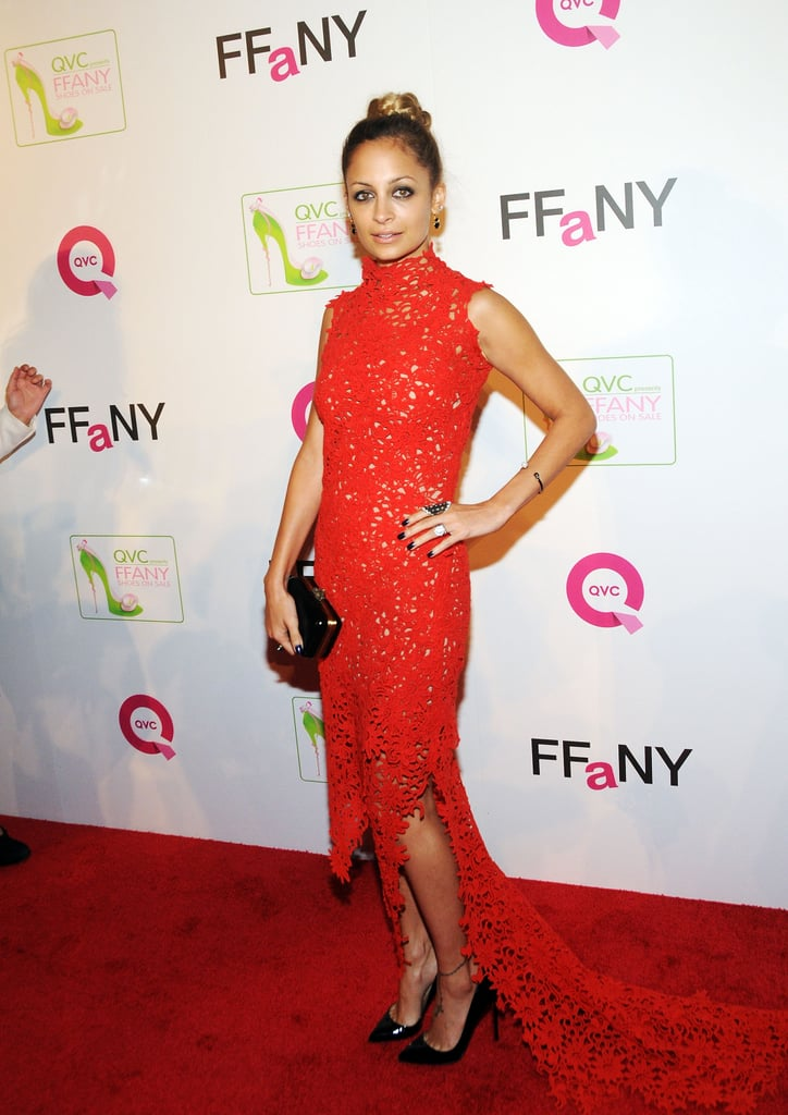 In October 2012, Nicole Richie stepped out for QVC's Shoes on Sale event benefitting breast cancer research in NYC.