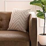Rivet Modern Velvet Stripe Throw Pillow