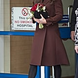 Kate Middleton left a Liverpool hospital.